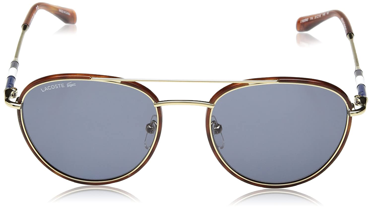 Lacoste Mens L102snd Metal Oval Novak Djokovic Capsule Collection Sunglasses, Gold 51 mm