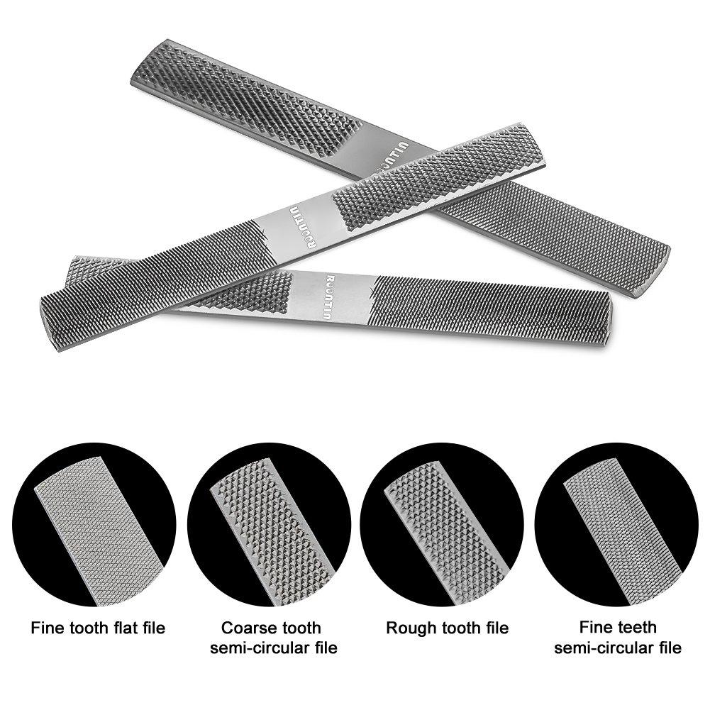 R/âpe en bois avec classeur /à haute teneur en carbone de qualit/é sup/érieure et plat et lime /à 4 montants meilleur ensemble de r/âpe en bois pour outils en bois et en m/étal.
