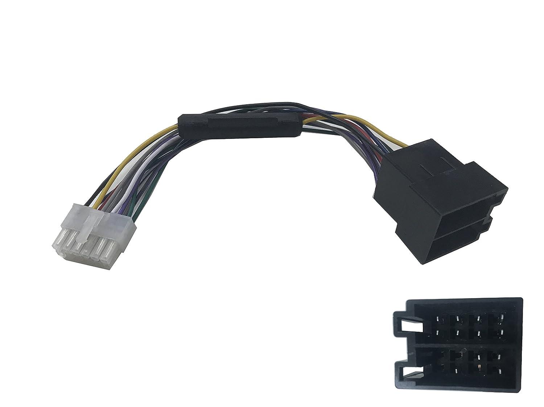 takestop® Kabel Adapter Anschluss ISO 12pin Kabelbaum für autoradio Radio Stereo MOON 1008551