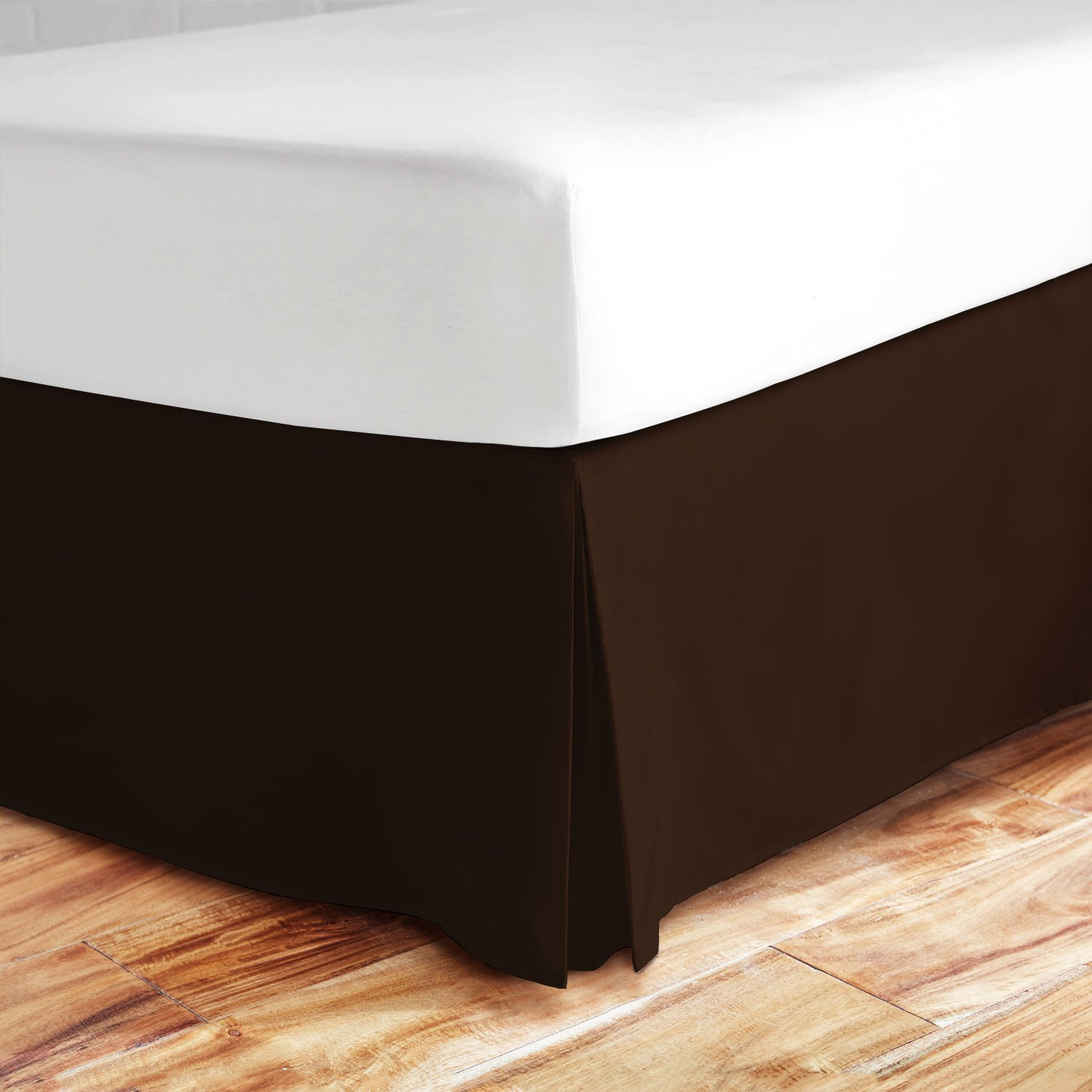 (California King, Brown) - Zen Bamboo Ultra Soft Bed Skirt - Premium, Eco-friendly, Hypoallergenic, and Wrinkle Resistant Bamboo Dust Ruffle with 36cm Drop - California King - Brown B06XX2KGX2 ブラウン California King