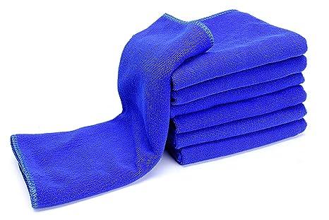 Toallas de Microfibra Paño de Limpieza Toallas de Coche de Secado Rápido Trapos de Cocina Azul