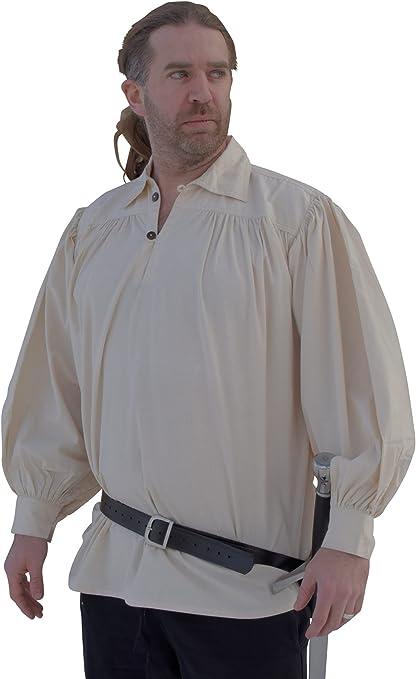 Camisa Caballero - camisa de manga corta de algodón de piratas - de la Edad media, juegos de rol