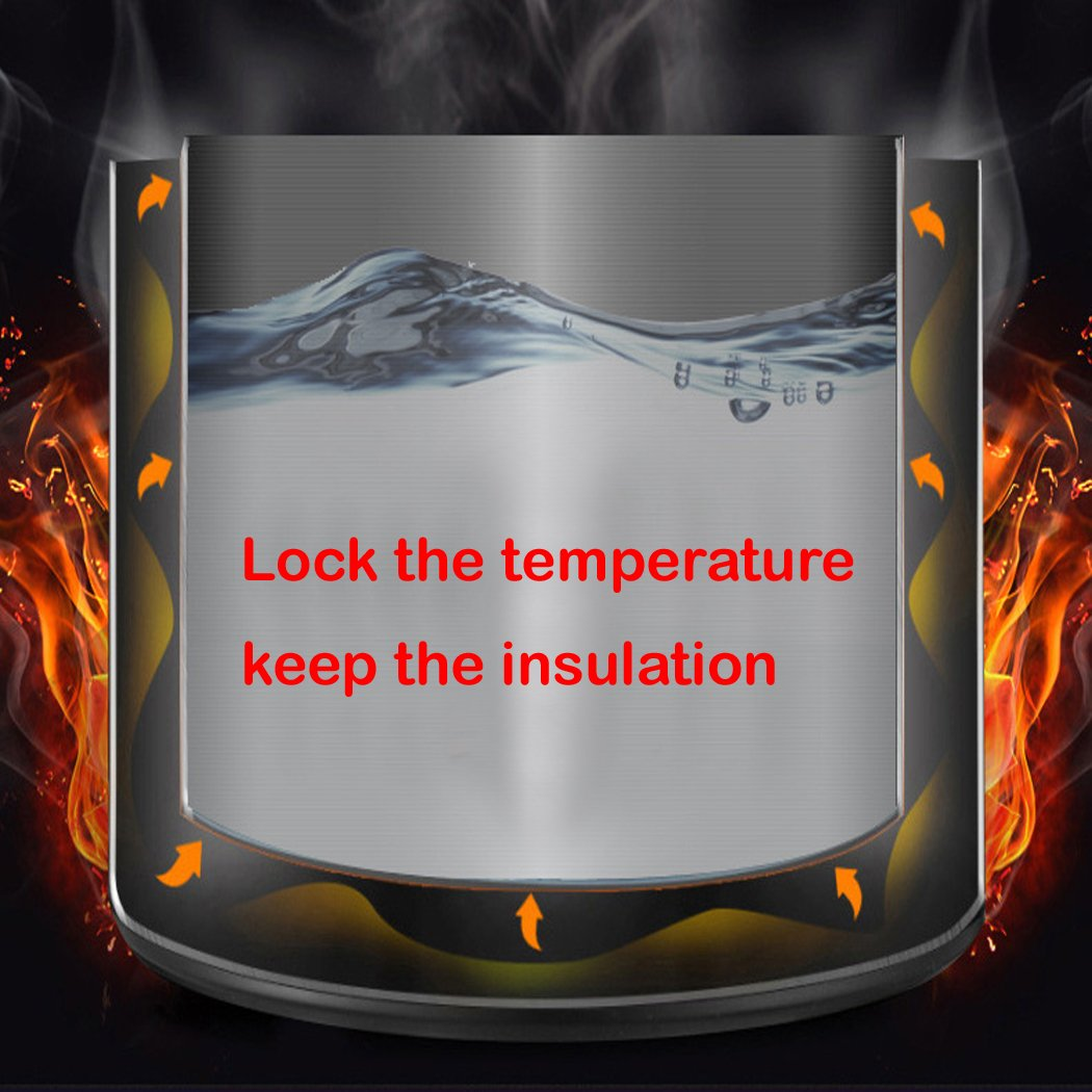 FUNRUI Pichet Isotherme Cafeti/ère Isotherme Pour Bouteille Haute Qualit/é Inox Isotherme 1L Argent