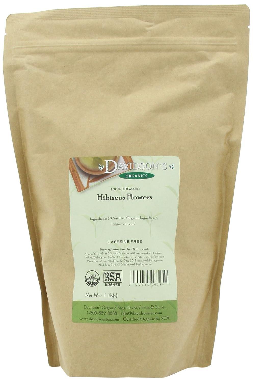 Davidson's Tea Bulk, Herb Pure Org Hibiscus Flowers, 16-Ounce Bag