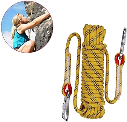 ND-Climbing rope Cuerda de Alpinismo de 20 m, 10 mm de Grosor ...