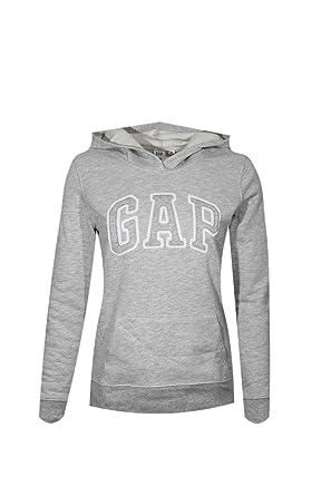GAP Womens Fleece Arch Logo Sudadera con cremallera completa (Small, Gris Claro)
