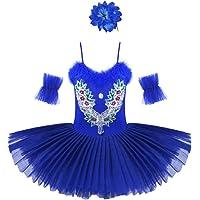 Freebily Maillot de Ballet Danza Vestido Algodón de Princesa con Lentejuelas para Niña (3-10 años) Tutú Infantil