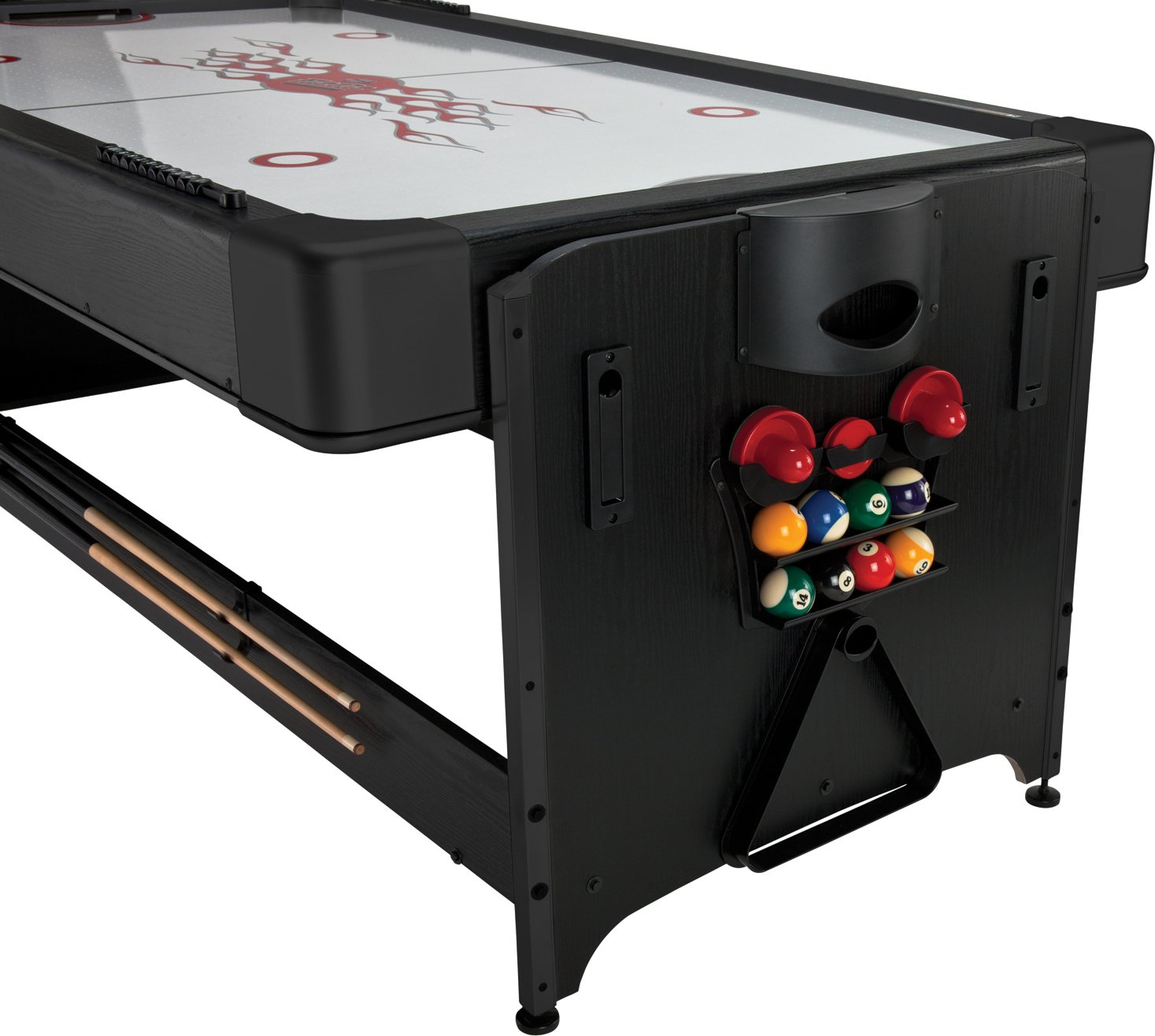 Fat cat original 2 in 1 7 foot pockey game table air hockey and fat cat original 2 in 1 7 foot pockey game table air hockey and billiards poker table tops amazon canada greentooth Image collections