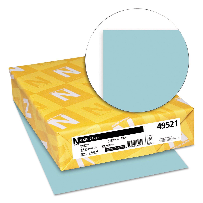 Neenah Paper, Inc Paper, Letter, 8-1/2''x11'', 110 Lb, 250/Pack, Blue (WAU49521)
