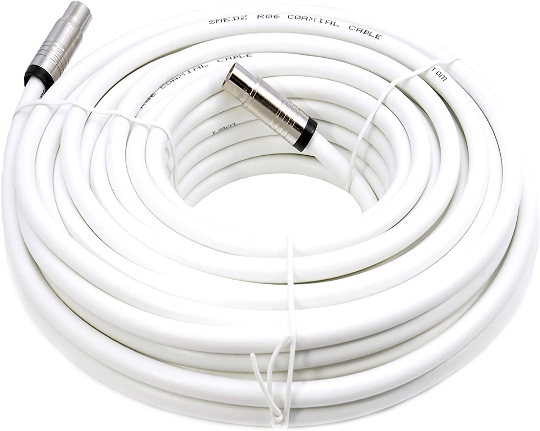 Mast Digital YCAB01L - Cable coaxial de 5 metros, blanco