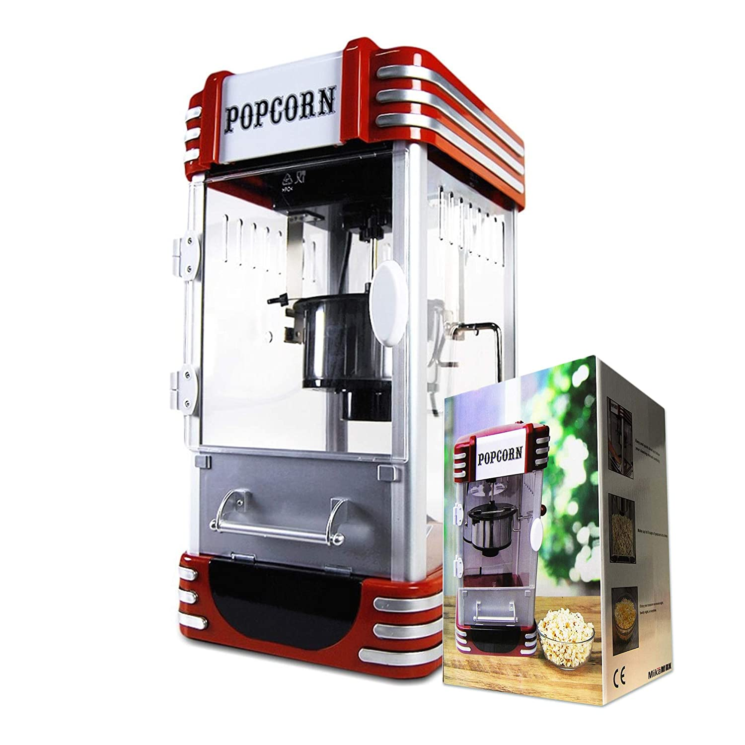 Mikamax - Retro Popcorn Machine - Deluxe - Cinema Popcorn ...
