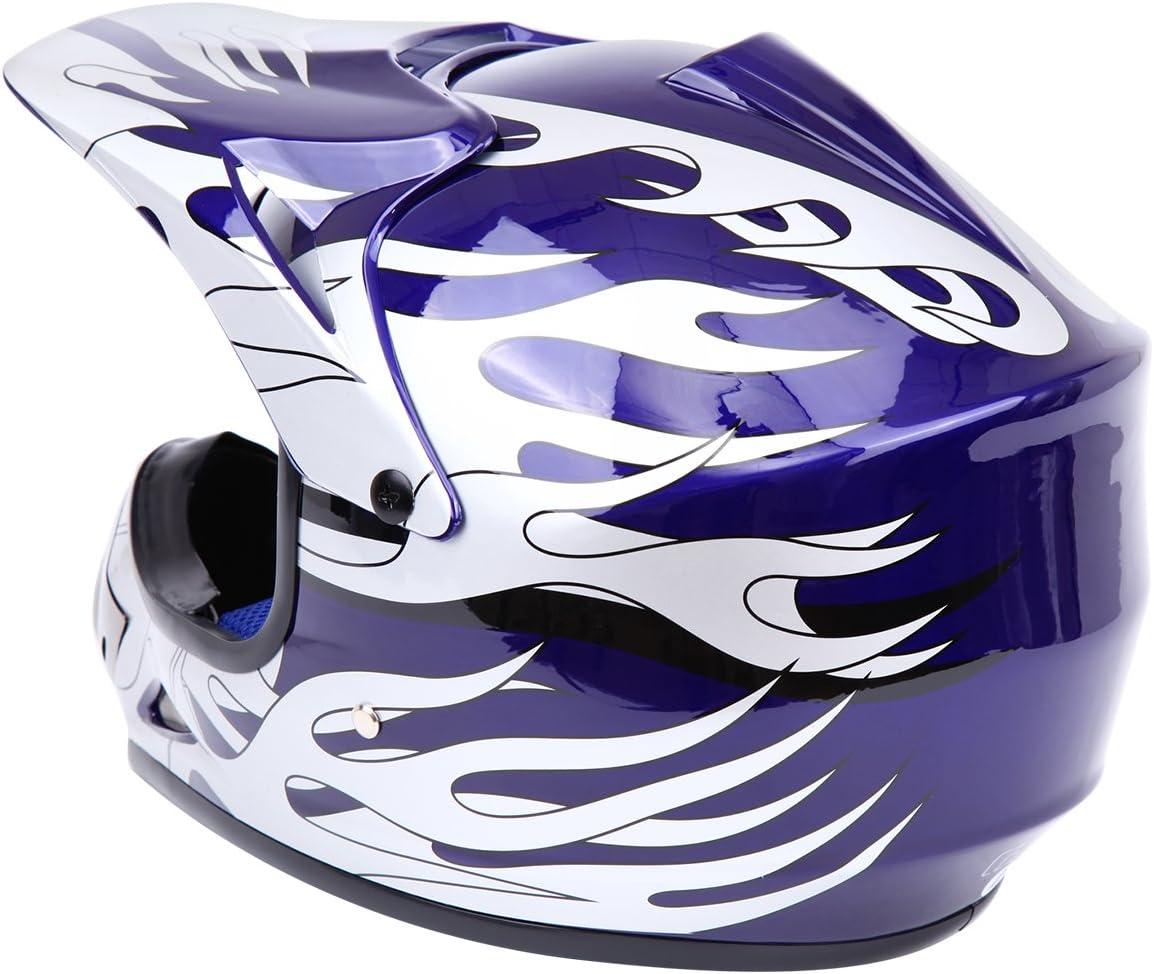 Verde,M Samger DOT Youth Ni/ños Fuera del Casco de Motocross Dirt Bike Casco con Guantes Gafas