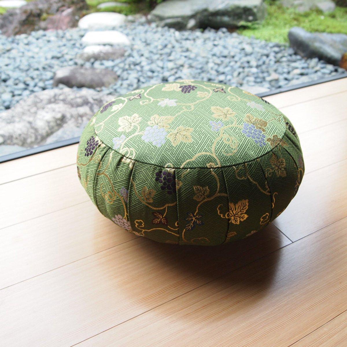 ヨガ座布団 yoga クッション(瞑想)座布座蒲座蒲座禅専用 座禅座布団 日本製 (33cm, 葡萄 みどり) B074D56B3G 33cm|葡萄 みどり 葡萄 みどり 33cm