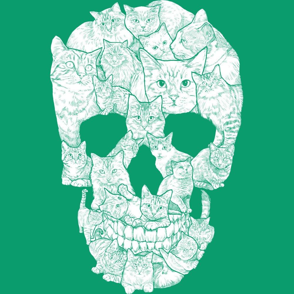 e54ac4a41d1 Amazon.com: Design By Humans Sketchy Cat Skull Men's Graphic T Shirt:  Clothing