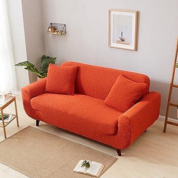 Industrial Iron Pipe Leather Sofa Loveseat Orange Sofa ...