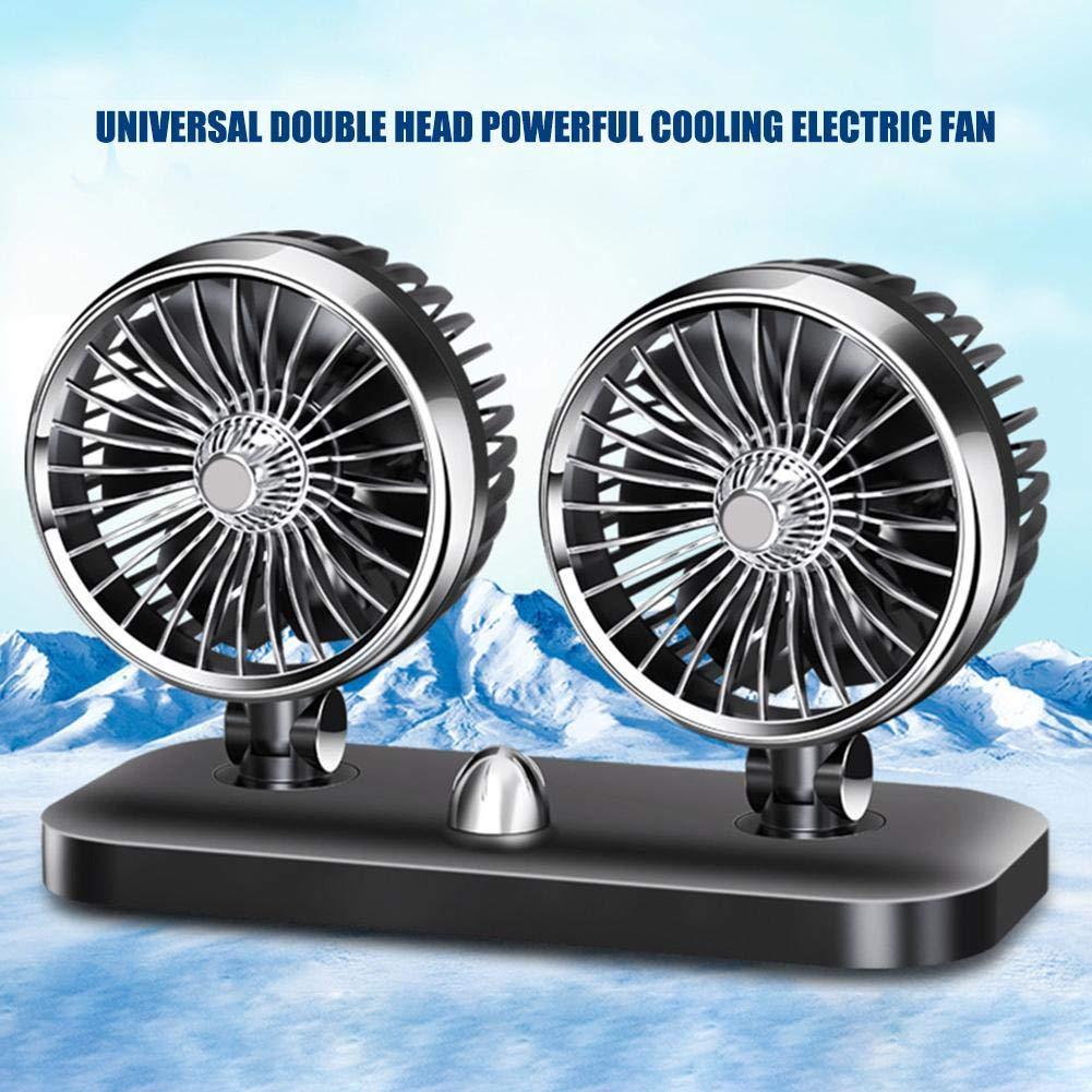 Mini Ventilador para Coche Seasaleshop 12 V//24 V, 360 /°, rotaci/ón de Viento, para Coche, Aire Acondicionado, bajo Aviso, port/átil, Aire para Coche, casa y Oficina, Color, 12V