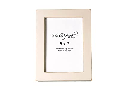 rustic and refined design 5x7 solid wood made in usa picture frame with 1 inch border
