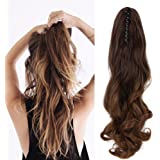 "Neverland Beauty 20""(50cm) Ombre Two Tone Long Big Wavy Claw Curly Ponytail Clip in Hair Extensions 8#/27#"