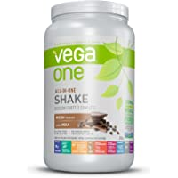 Vega One All-In-One Plant Based Protein Powder Mocha (20 Servings, 1.84 lb) - Plant Based Vegan protein, Non Dairy, Gluten Free, Non GMO