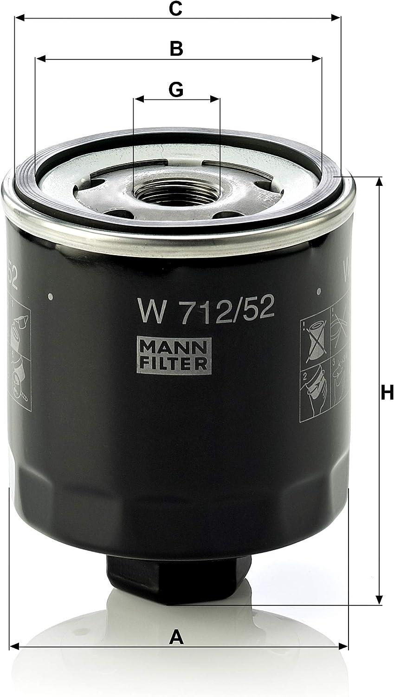 Original Mann Filter Ölfilter W 712 52 Für Pkw Auto