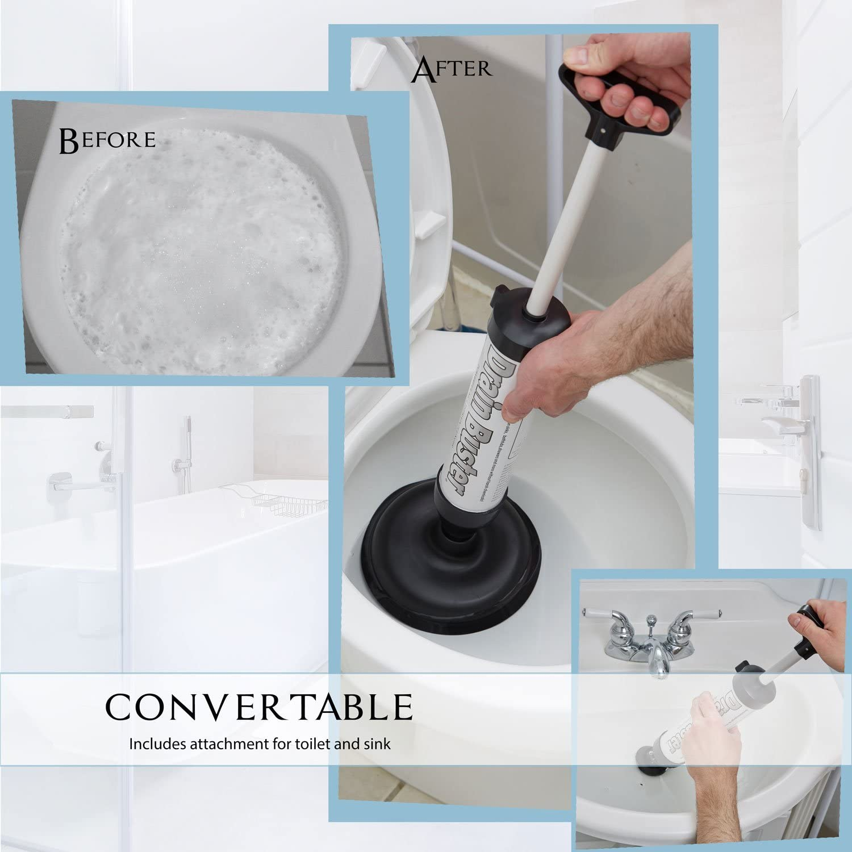 Hand DRAIN BUSTER PLUNGER TOILET BATH SHld Mini Sink Plunger Drain Cleaner