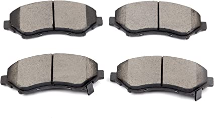 Front and Rear Ceramic Brake Pads Kit Fits Chrysler Town /& Country Dodge Caravan