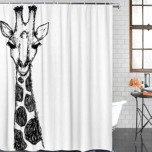 "Dinosaur Shadow Waterproof Fabric Shower Curtain Bathroom Set /& 71*71/"" w// Hooks"