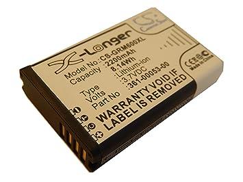 Batería 2200mAh (3.7V) para Navi GPS Garmin Alpha 100, Montana 600,