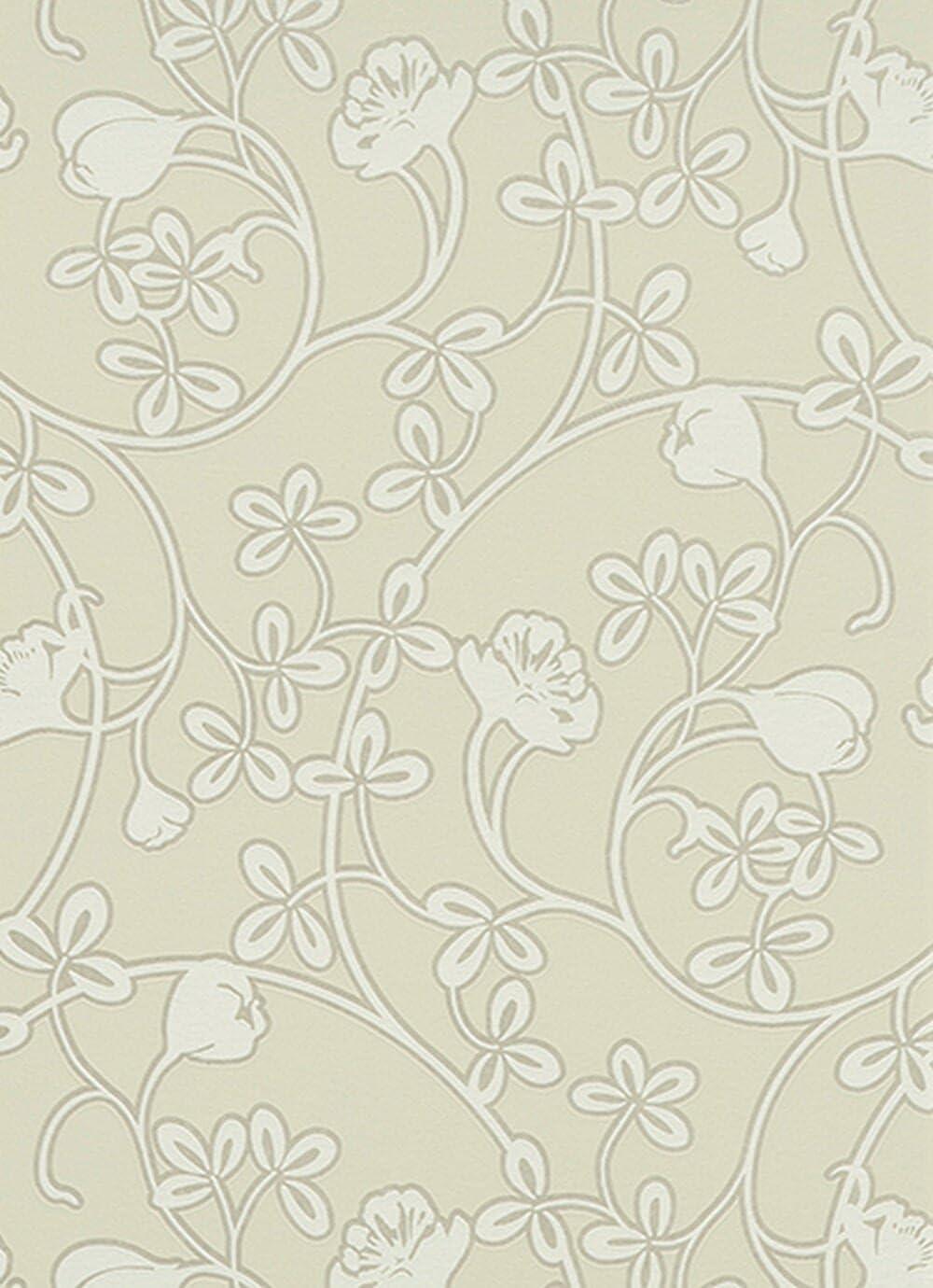 Glossy Scandinavian Air Traditional Floral Flower Green