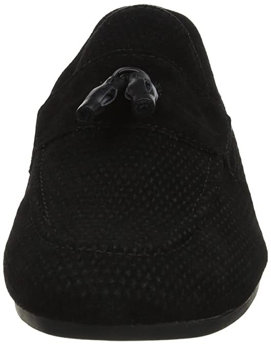 Burton Menswear London Telek, Mocasines para Hombre, Negro (Black 130), 44 EU