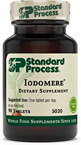 Standard Process Iodomere - Whole Food Metabolism and Thyroid Support with Echinacea Purpurea, Green Lipped Mussel, Organic Carrot, Organic Sweet Potato, and Iodine - 90 Tablets