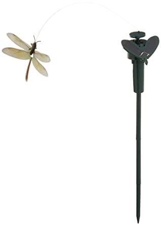 Solar Yard Stake Fluttering Insects Or Battery Powered Dragonfly