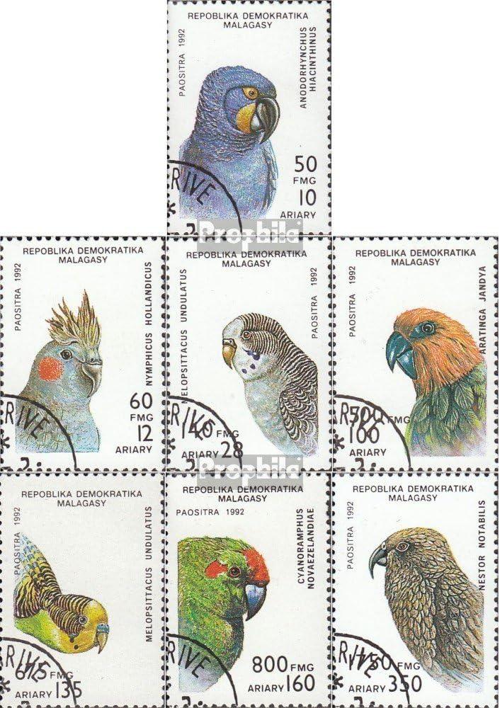 Sellos para los coleccionistas Aves Prophila Collection Madagascar 1423-1429 Completa.edici/ón. 1993 Loros