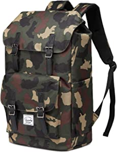 Backpack for Men,Vaschy Fashion Water-resistant Rucksack College School Backpack Camouflage