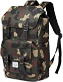 School Backpack,Vaschy Water Resistant Drawstring Laptop Backpack Women for 15.6 inch Laptop Camel