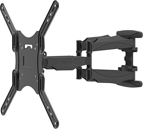 Kanto M600 Full Motion TV Wall Mount for 26 – 55 TVs Articulating Arm with 18.3 Extension Sits 2.2 from wall Up to 180 Swivel and 17 of Tilt VESA Compatible TV Bracket Heavy-Duty Steel