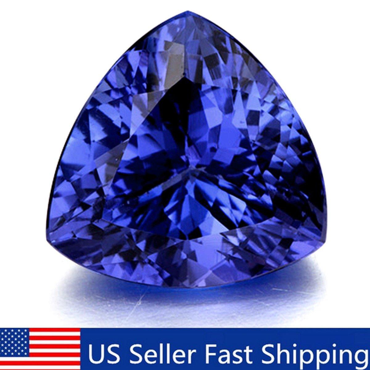 10mm Beautiful Blue Tanzanite AAA Stunning Trillion Cut Loose Gemstone