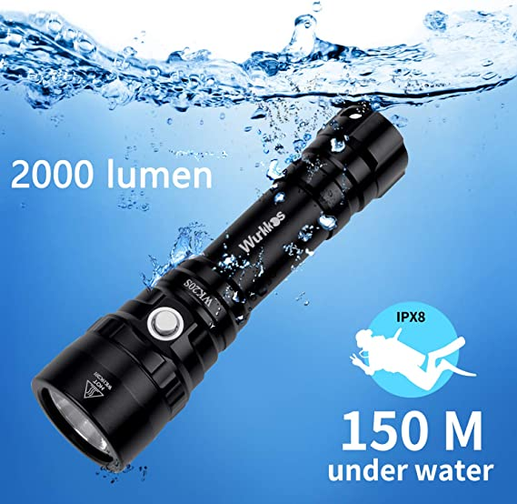 Dive Light Scuba Diving Video Light Camera Photography Torch 100 Meters Shoot Underwater Flashlight 2350 Lumens for Other Light Performance Requirement