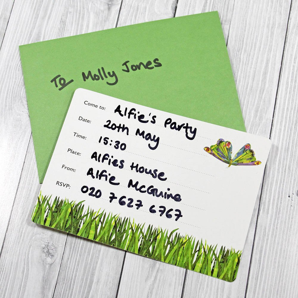 Amazon.com: Talking Tables The Very Hungry Caterpillar Invitations ...