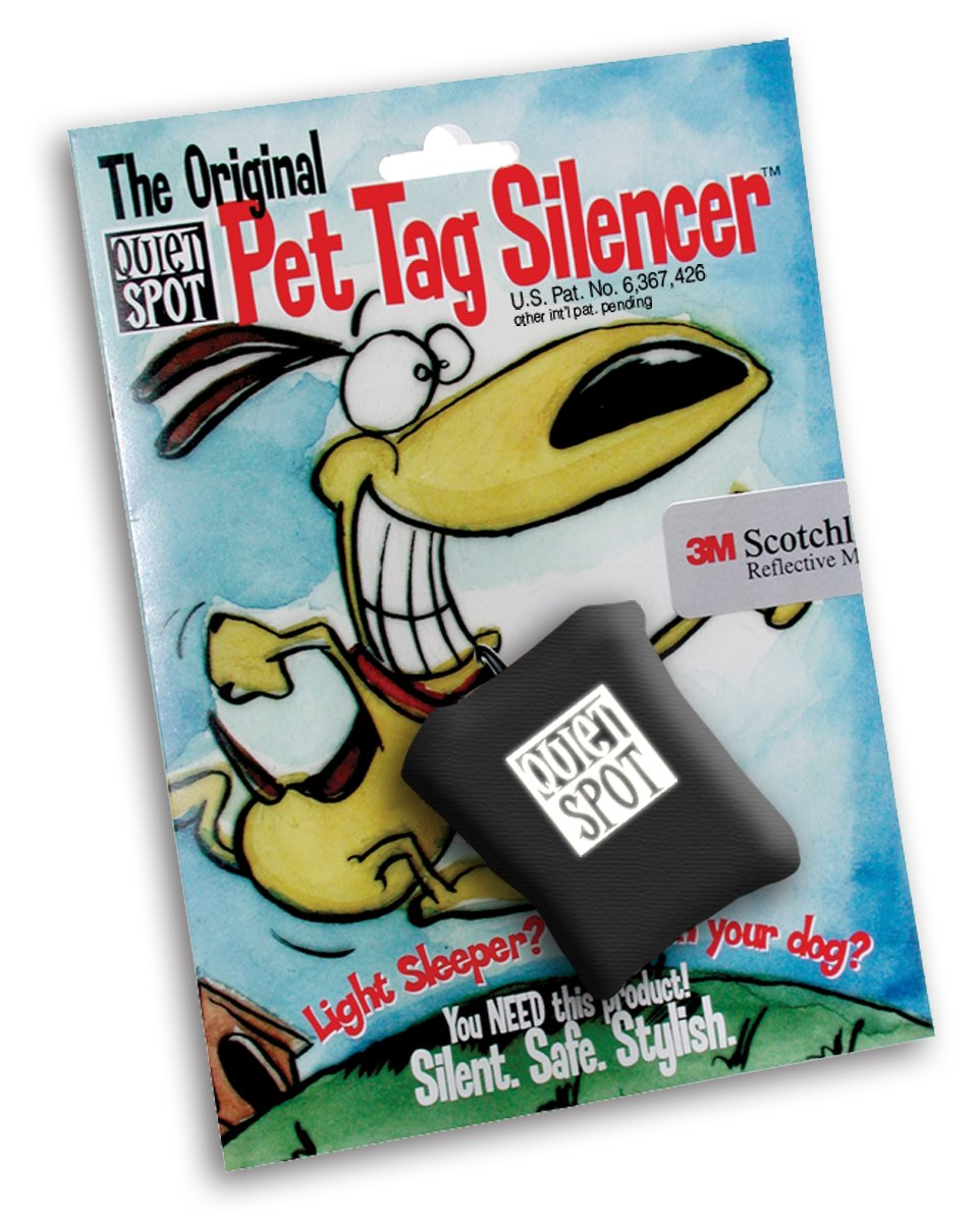 Quiet Spot Pet Tag Silencer (Black)