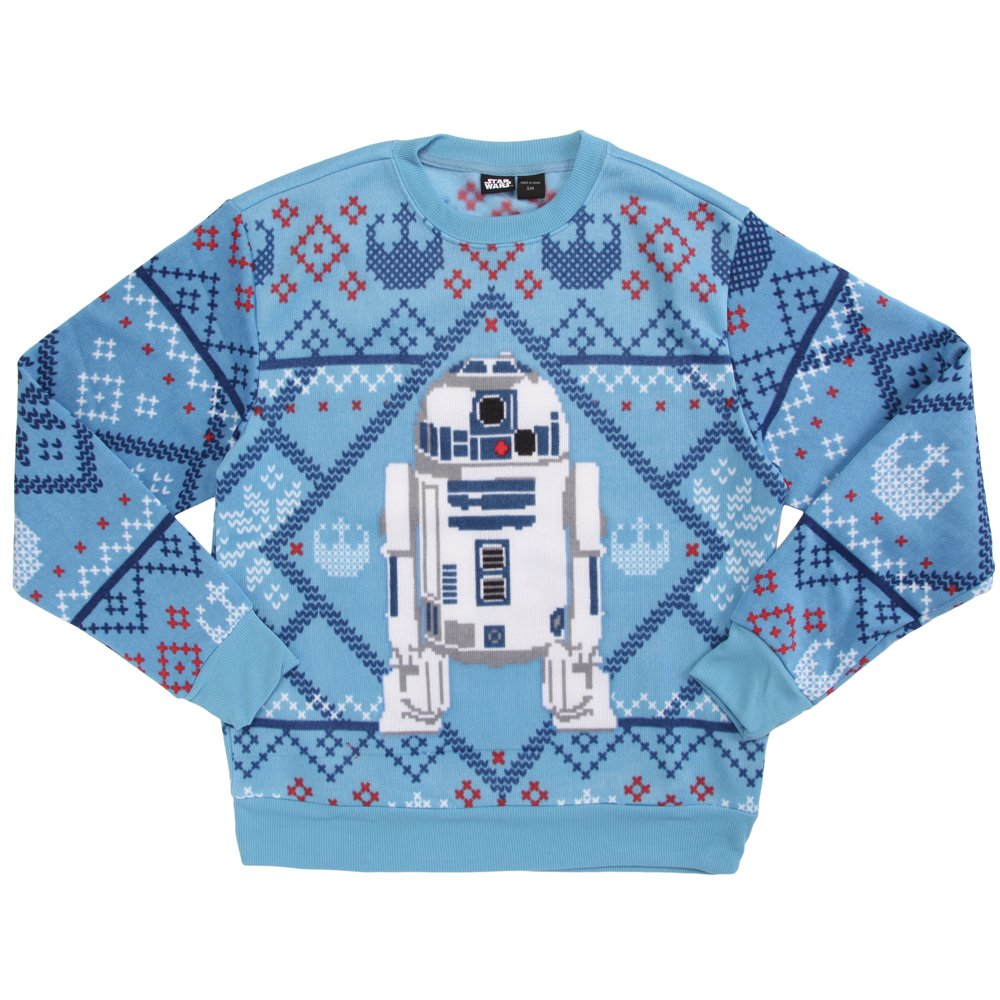 Men's Disney Star Wars R2-D2 Christmas edition Ugly Sweater Mad Engine