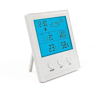 Magicmore - Termómetro Digital para Interiores con Sensor de Temperatura de Humedad, Termómetro e Higrómetro