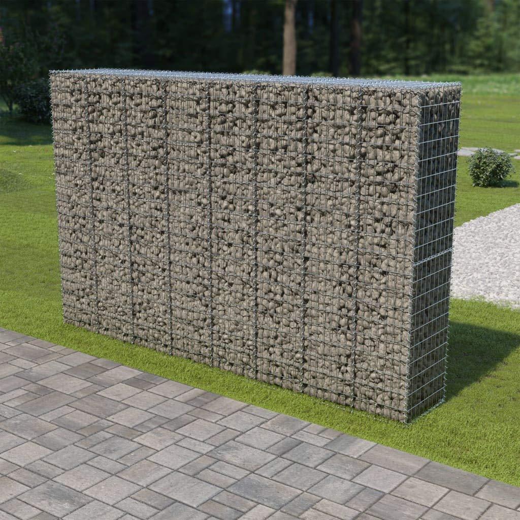 Festnight Mur en Gabion Panier en Gabion Gabion pour Pierres avec Couvercles Acier Galvanis/é 300 x 50 x 100 cm