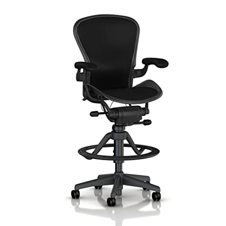 amazon com herman miller classic aeron work stool high height