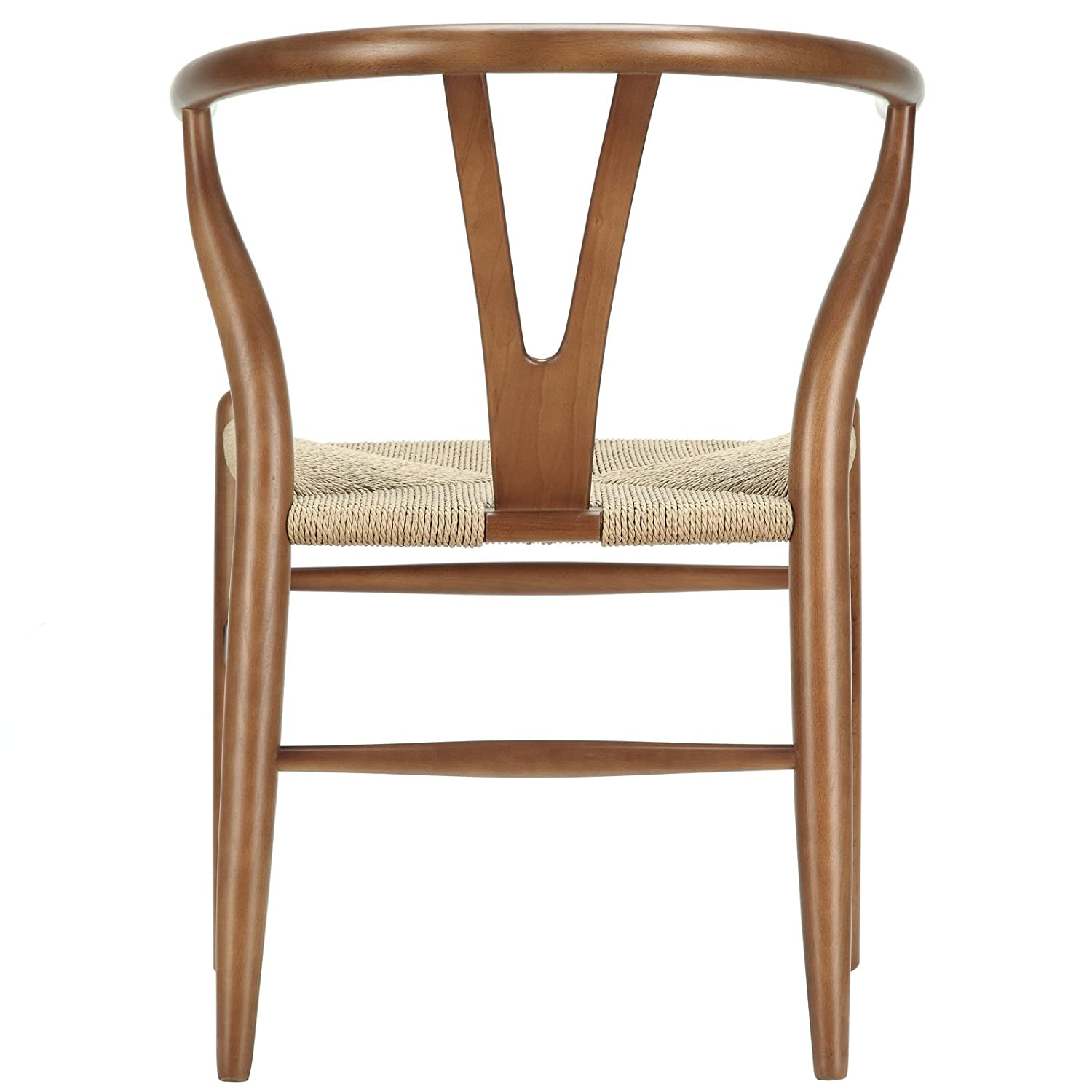 Amazon LexMod C24 Wishbone Chair in Walnut Chairs