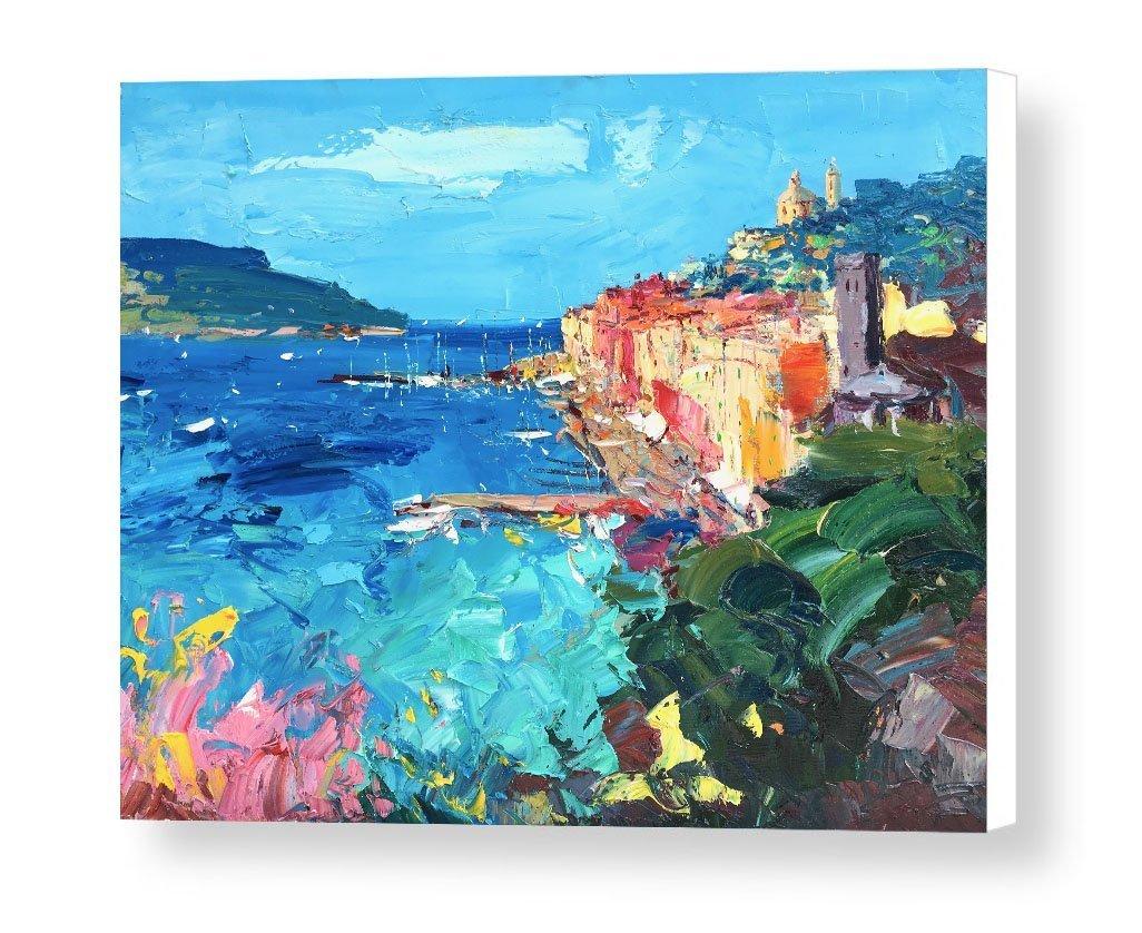 Amazon.com: Portovenere Cinque Terre Italy Canvas Art Prints Italy ...