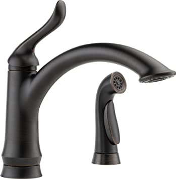 Delta Faucet Linden Single Handle Kitchen Sink Faucet With Side