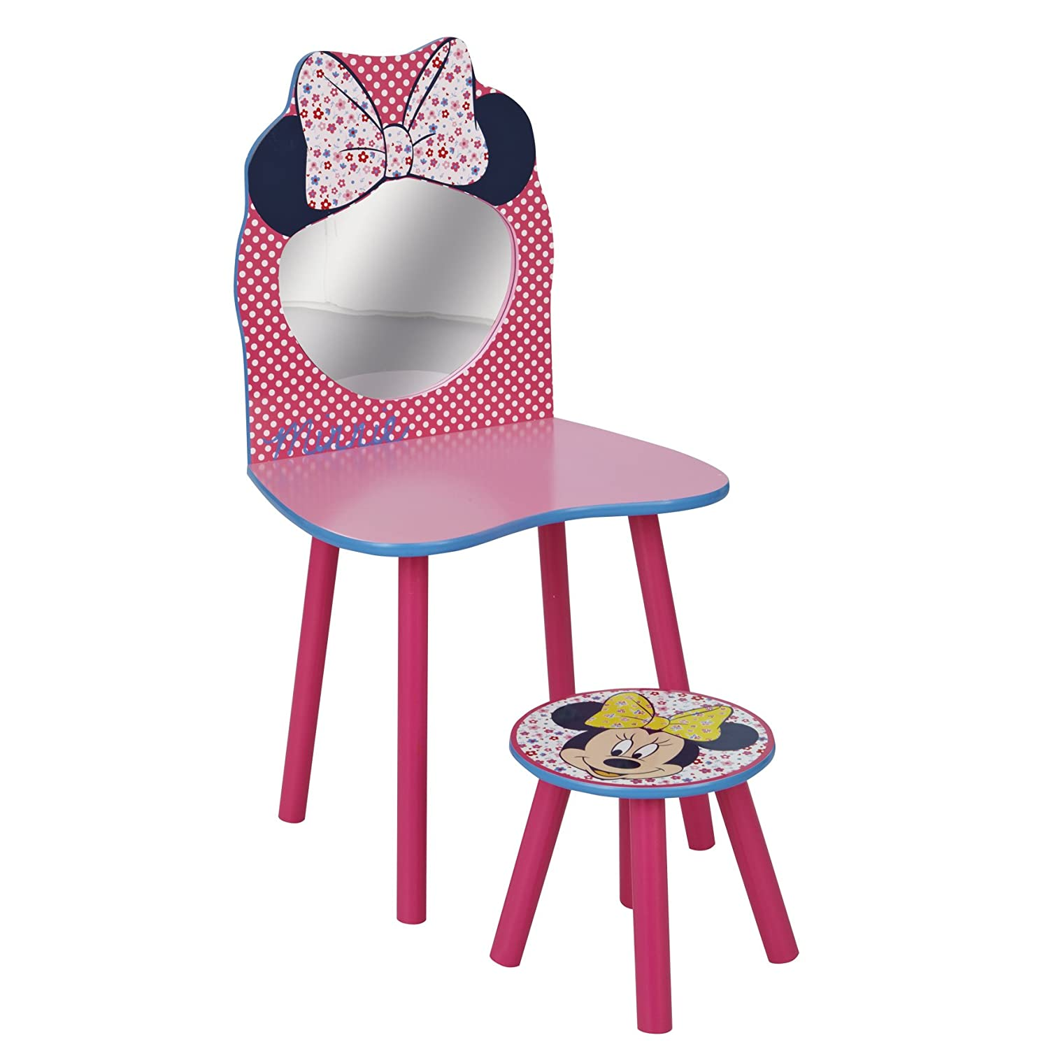 Worlds Apart 863989 Coiffeuse et Tabouret Disney Minnie Rose