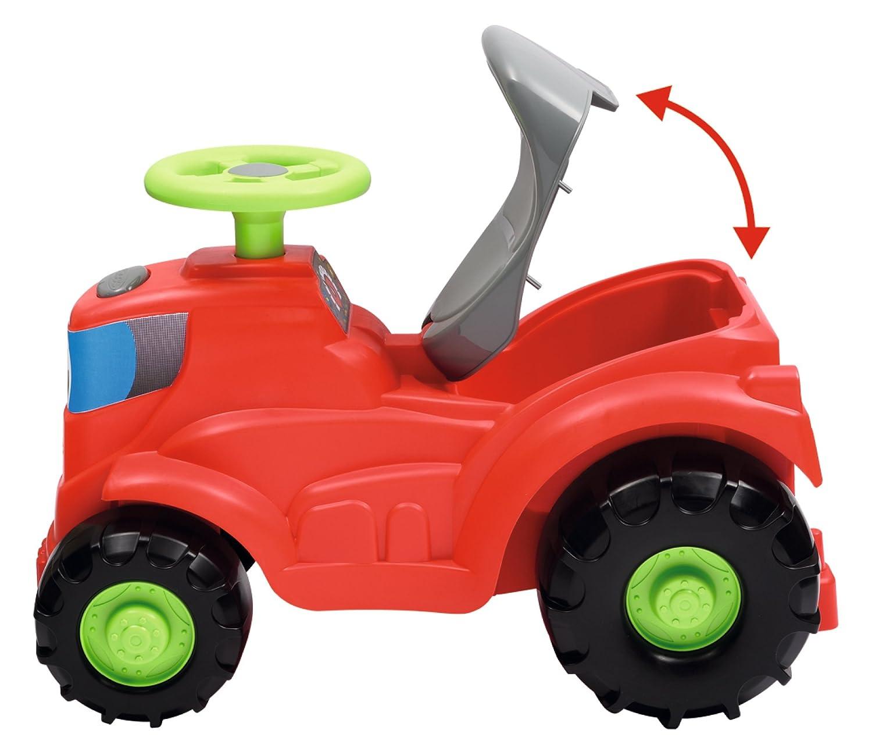 Smoby (SMOBH)-350 Tractor con Remolque Que Incluye cortacésped, Color Negro, Verde, Gris, Rojo
