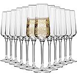 Krosno Copas Flauta Boda Cava de Champán | Conjunto 12 Piezas | 180 ML | Avant-Garde Collection Uso en Casa, Restaurante…